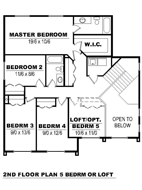 Second Floor - 5 bdrm