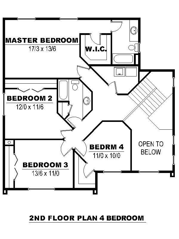 Second Floor - 4 bdrm