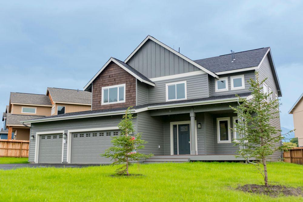 Front elevation with 3-car garage option