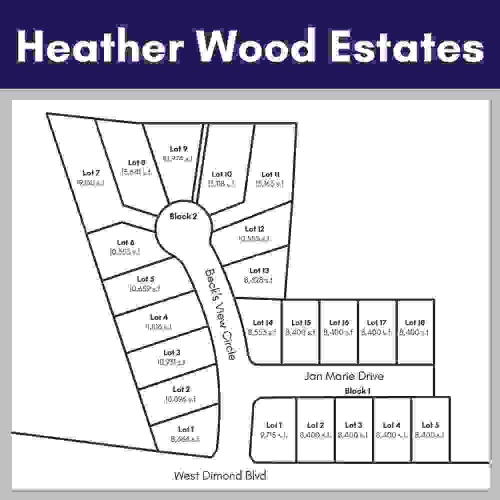Heather Wood Lot Map