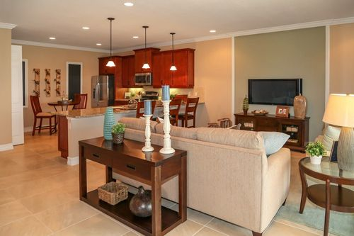 Greatroom-and-Dining-in-Chelsea A-at-St. Andrews Park Villa Homes-in-Port Saint Lucie