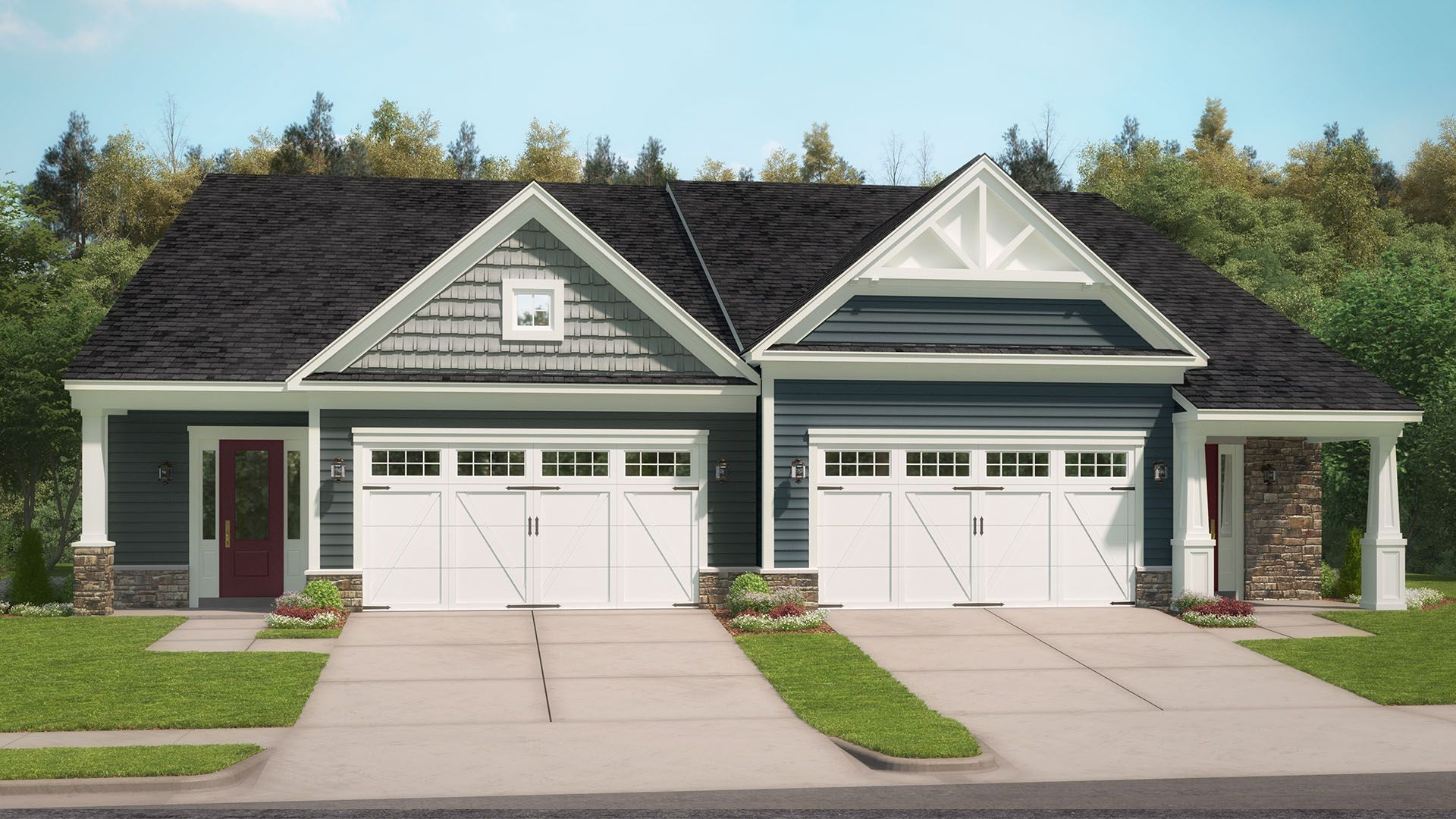 Exterior featured in the Marcella By Stanley Martin Homes in Charlottesville, VA