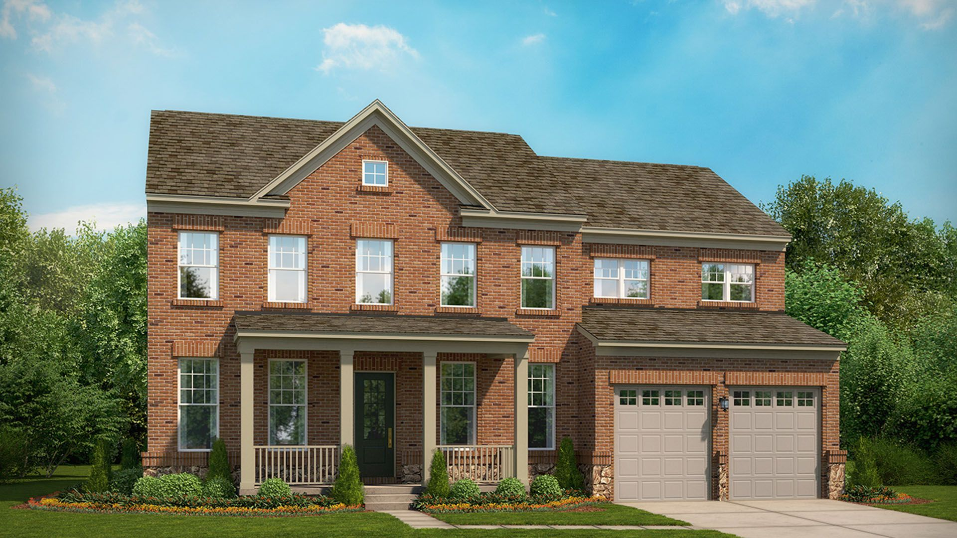 Exterior featured in the Kasey By Stanley Martin Homes in Charlottesville, VA