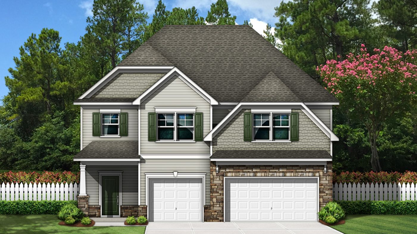 Exterior featured in the Summerville By Stanley Martin Homes in Greenville-Spartanburg, SC