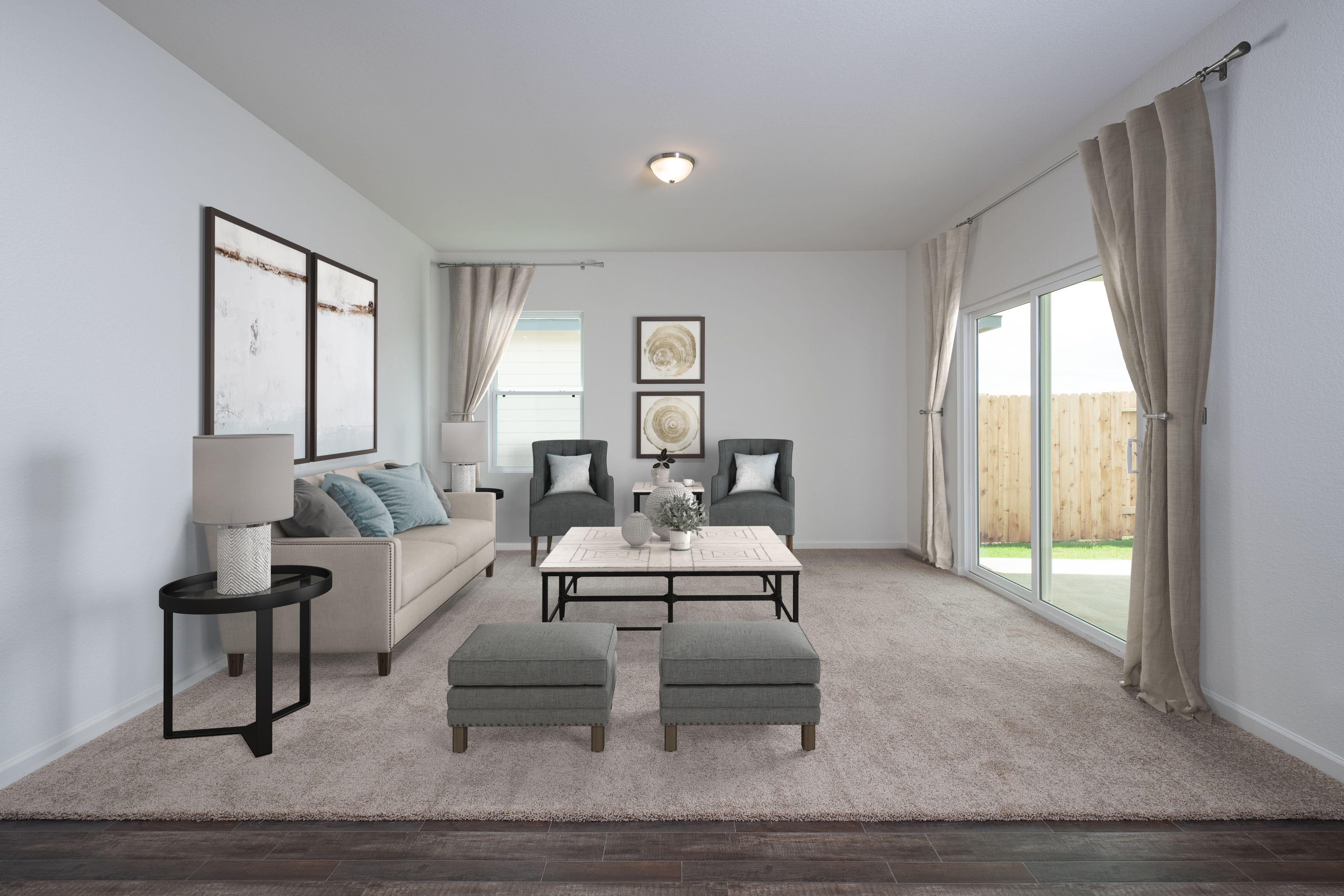Living Area featured in the Luna By Starlight Homes in Fort Worth, TX