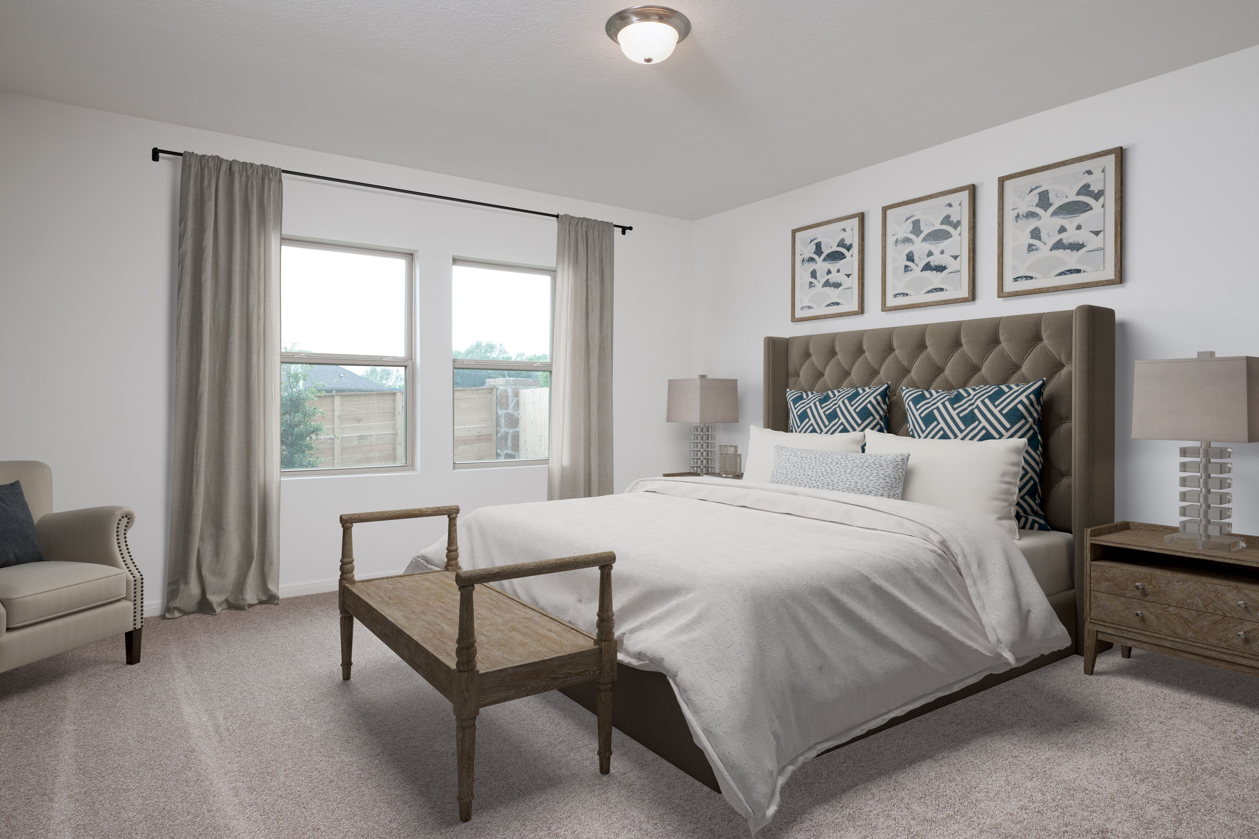Bedroom featured in the Moonbeam By Starlight Homes in San Antonio, TX