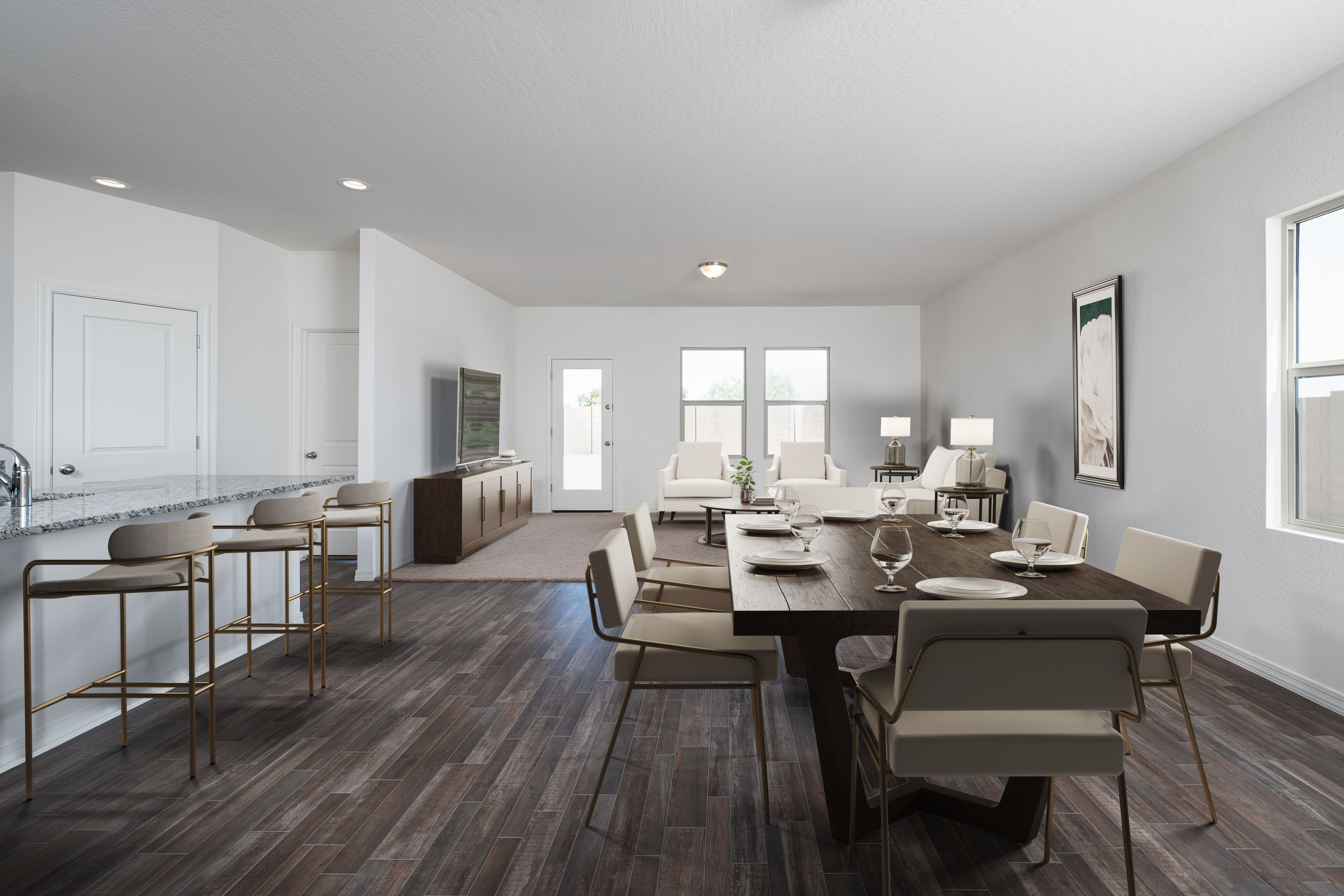 Living Area featured in the Prism By Starlight Homes in San Antonio, TX