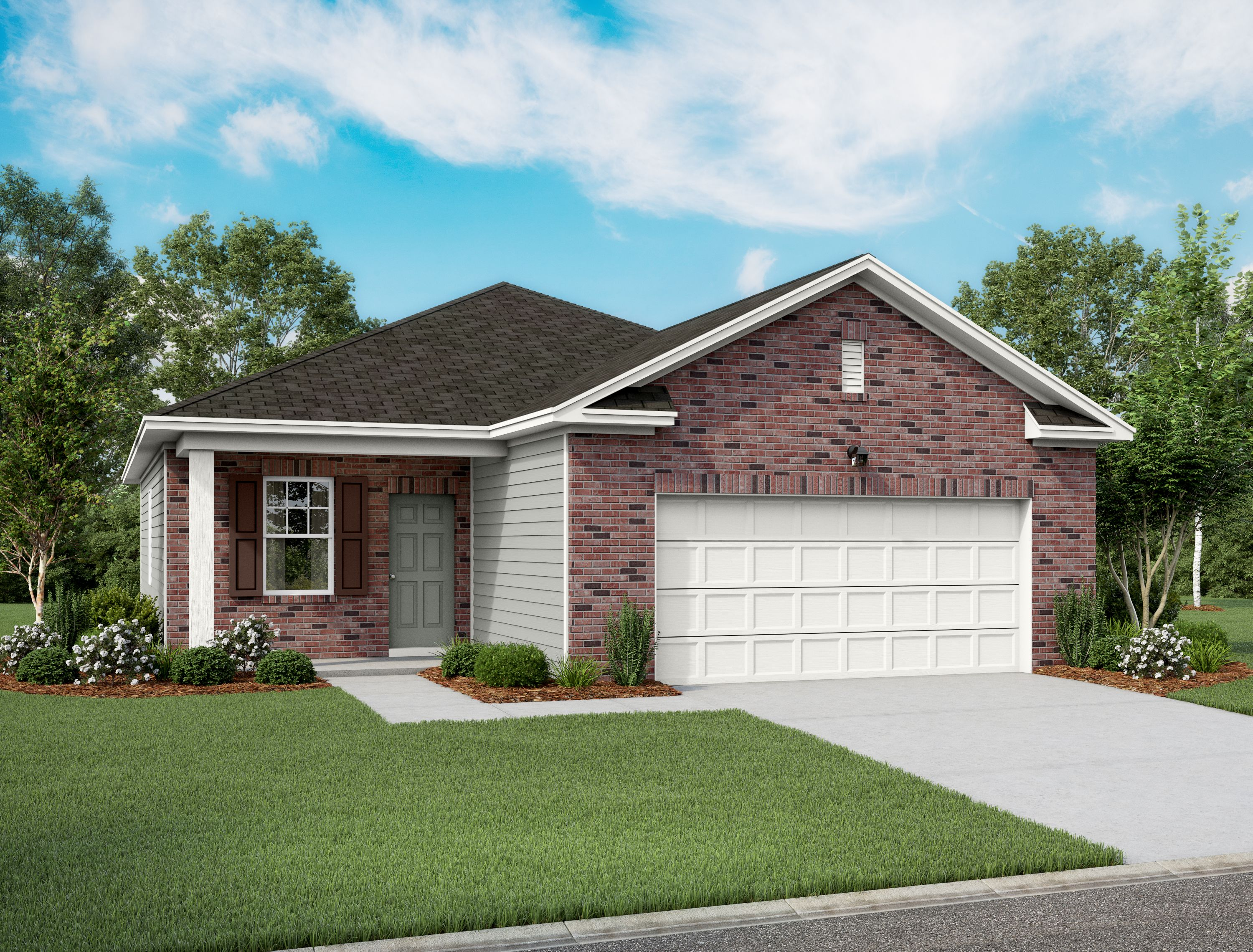 Exterior featured in the Falcon By Starlight Homes in San Antonio, TX