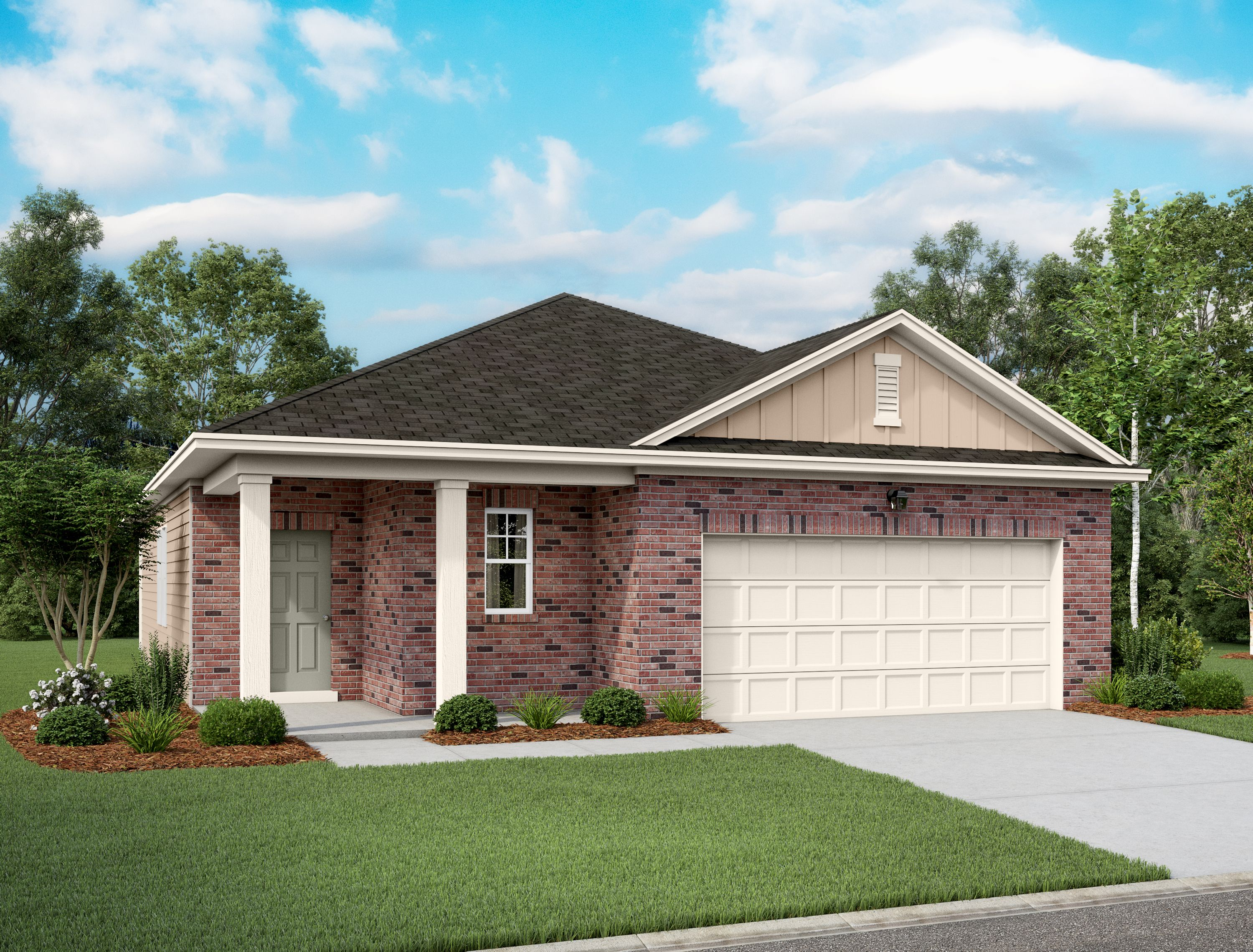Exterior featured in the Glimmer By Starlight Homes in San Antonio, TX