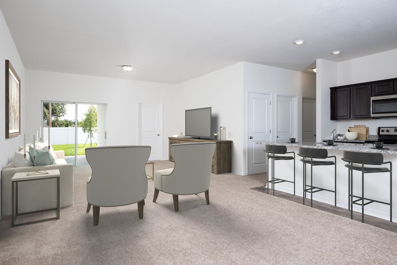 Kitchen featured in the Glimmer By Starlight Homes in Daytona Beach, FL