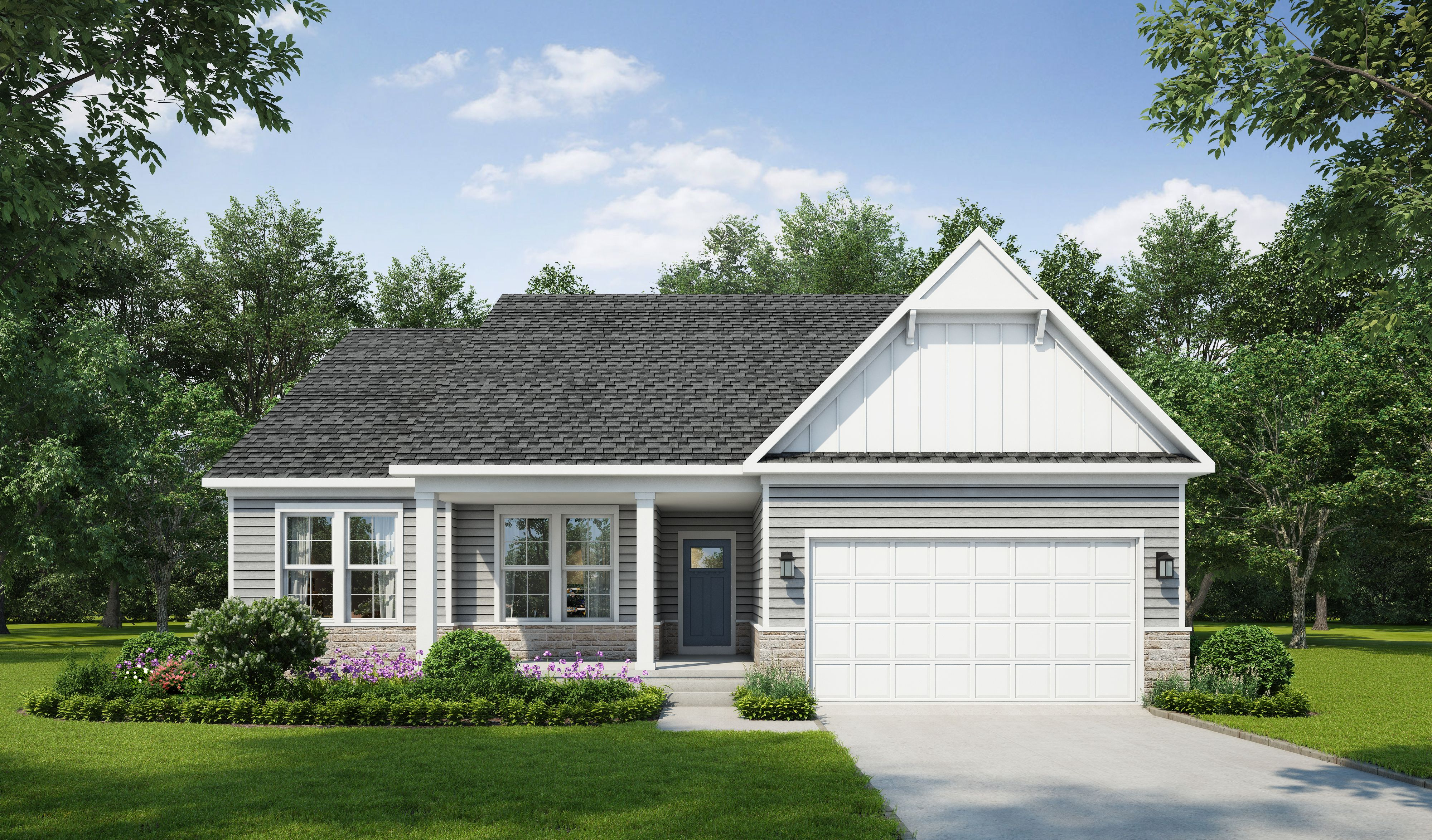 Exterior featured in The Callaway By Stateson Homes in Blacksburg, VA
