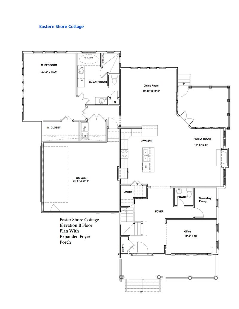 Eastern Shore Cottage Home Plan by Stephen Alexander Homes in Floor – Secure Home Floor Plans