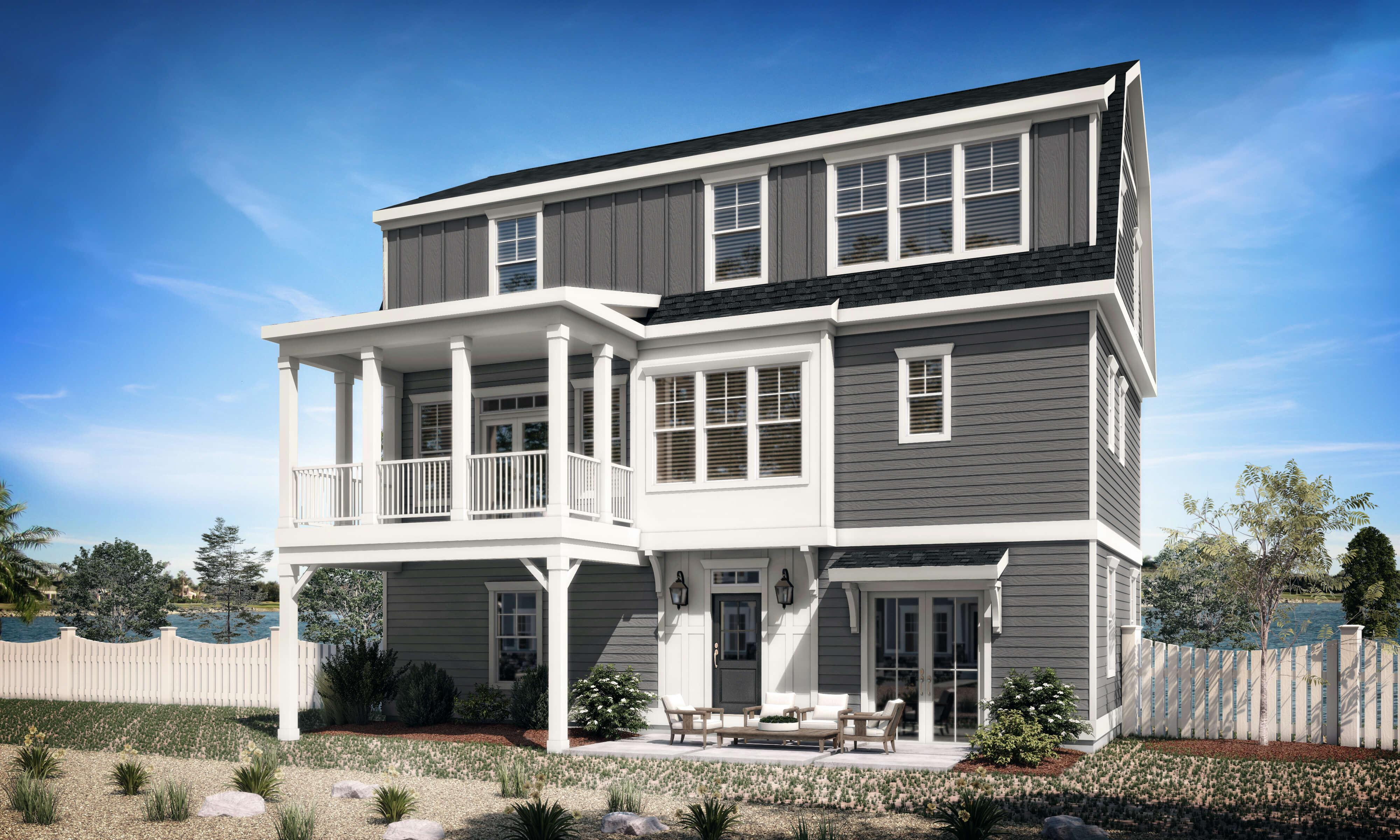 Exterior featured in the Portland By Stephen Alexander Homes in Norfolk-Newport News, VA