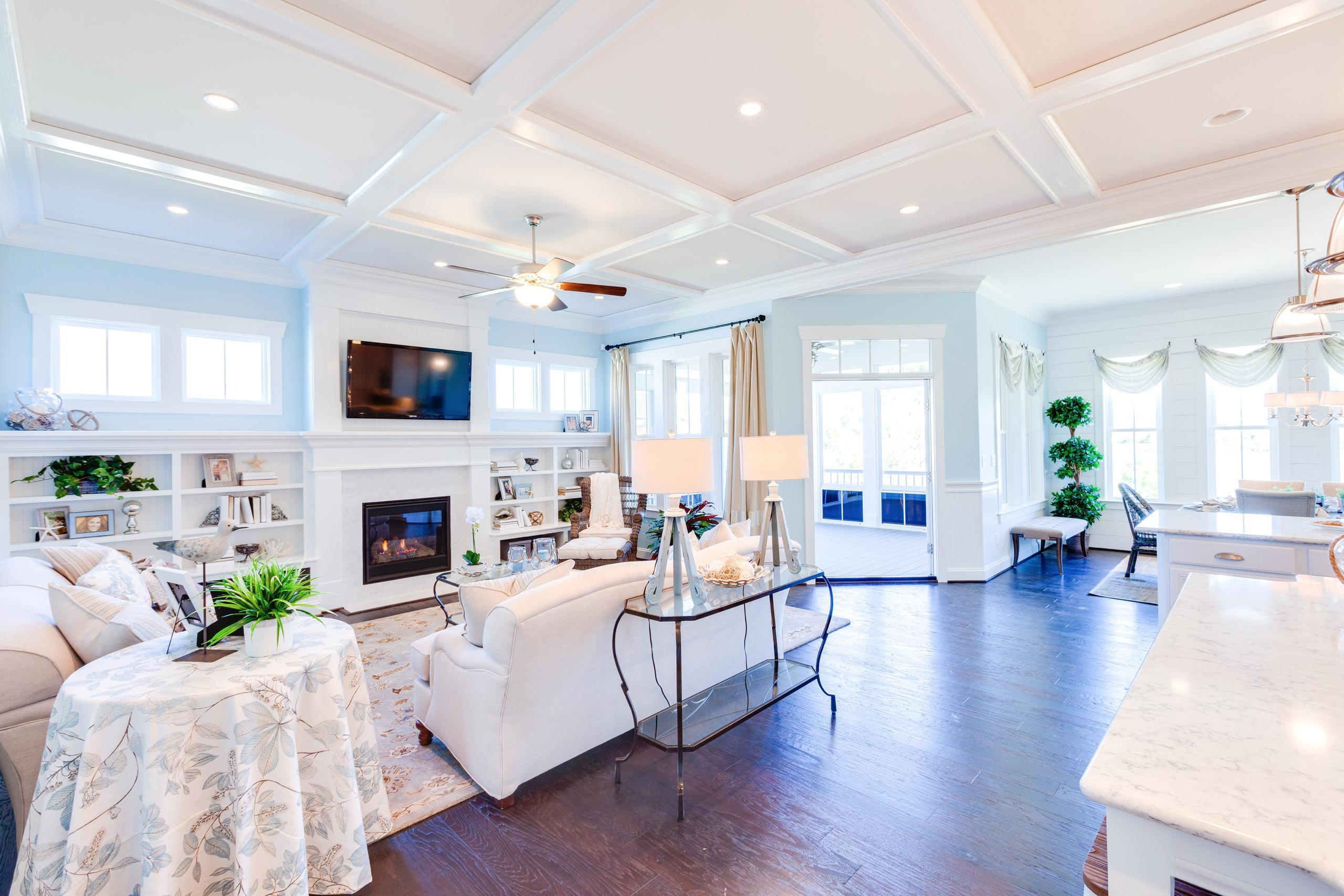 Living Area featured in the Cottage Ashland By Stephen Alexander Homes in Outer Banks, NC