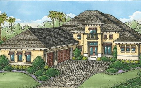 Exterior featured in the Glenmore By Stock Development in Naples, FL