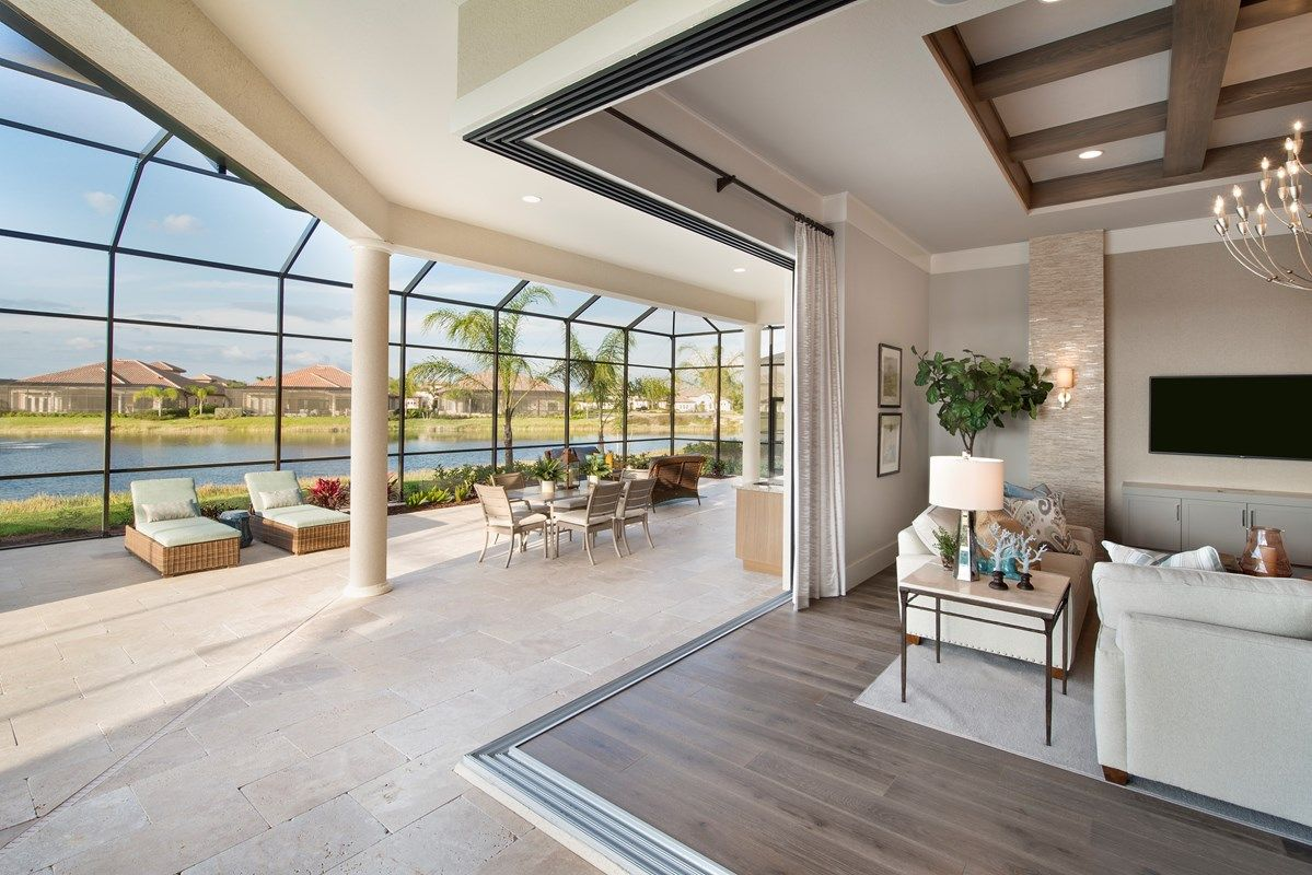 Living Area featured in the Majestic II By Stock Development in Naples, FL