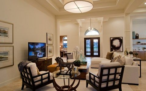 Living Area featured in the Scottsdale II By Stock Development in Naples, FL