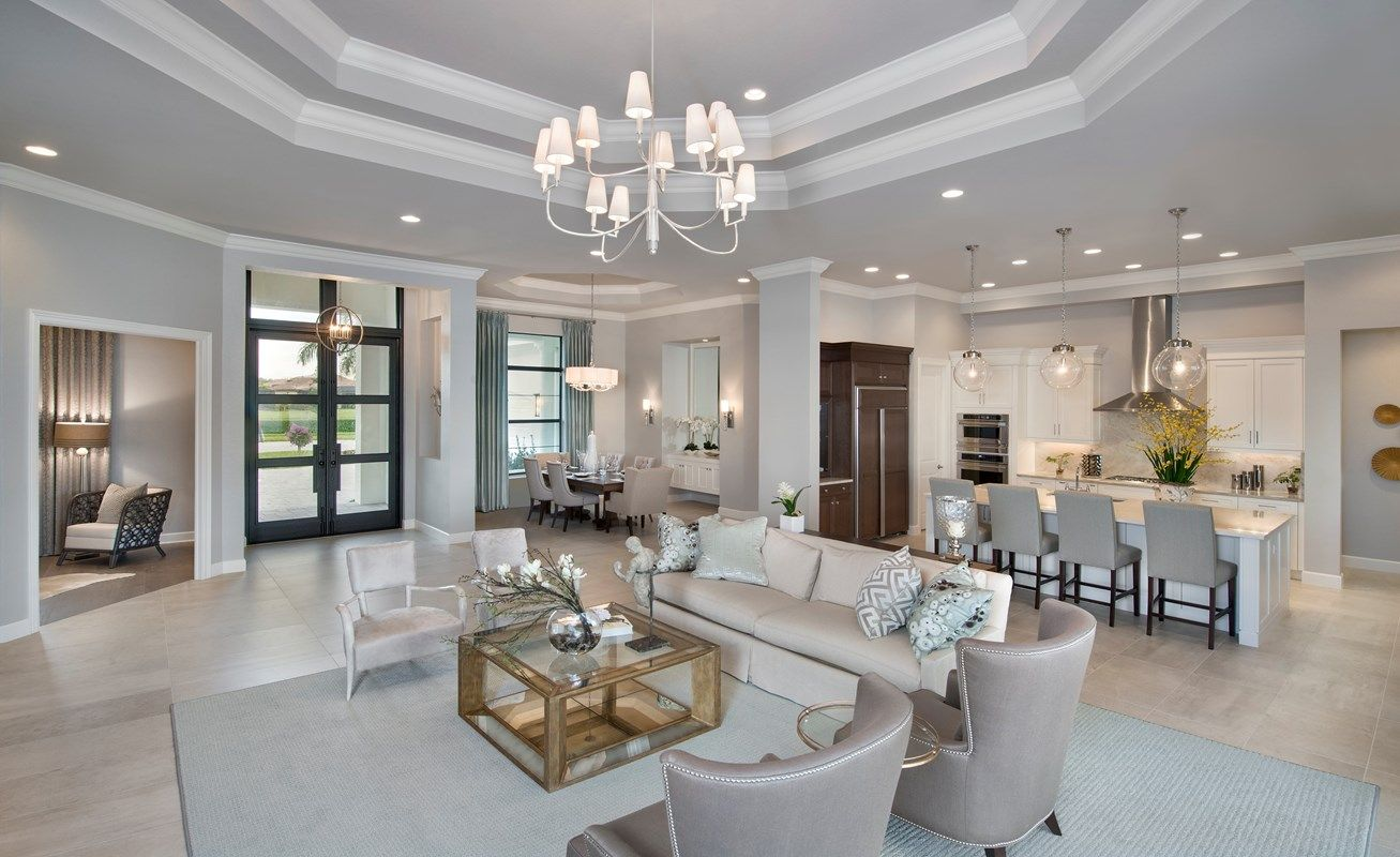 Living Area featured in the Windsor III By Stock Development in Naples, FL