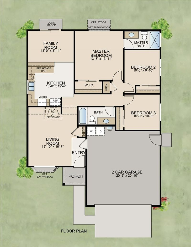 The Sierra Nevada Floor Plan