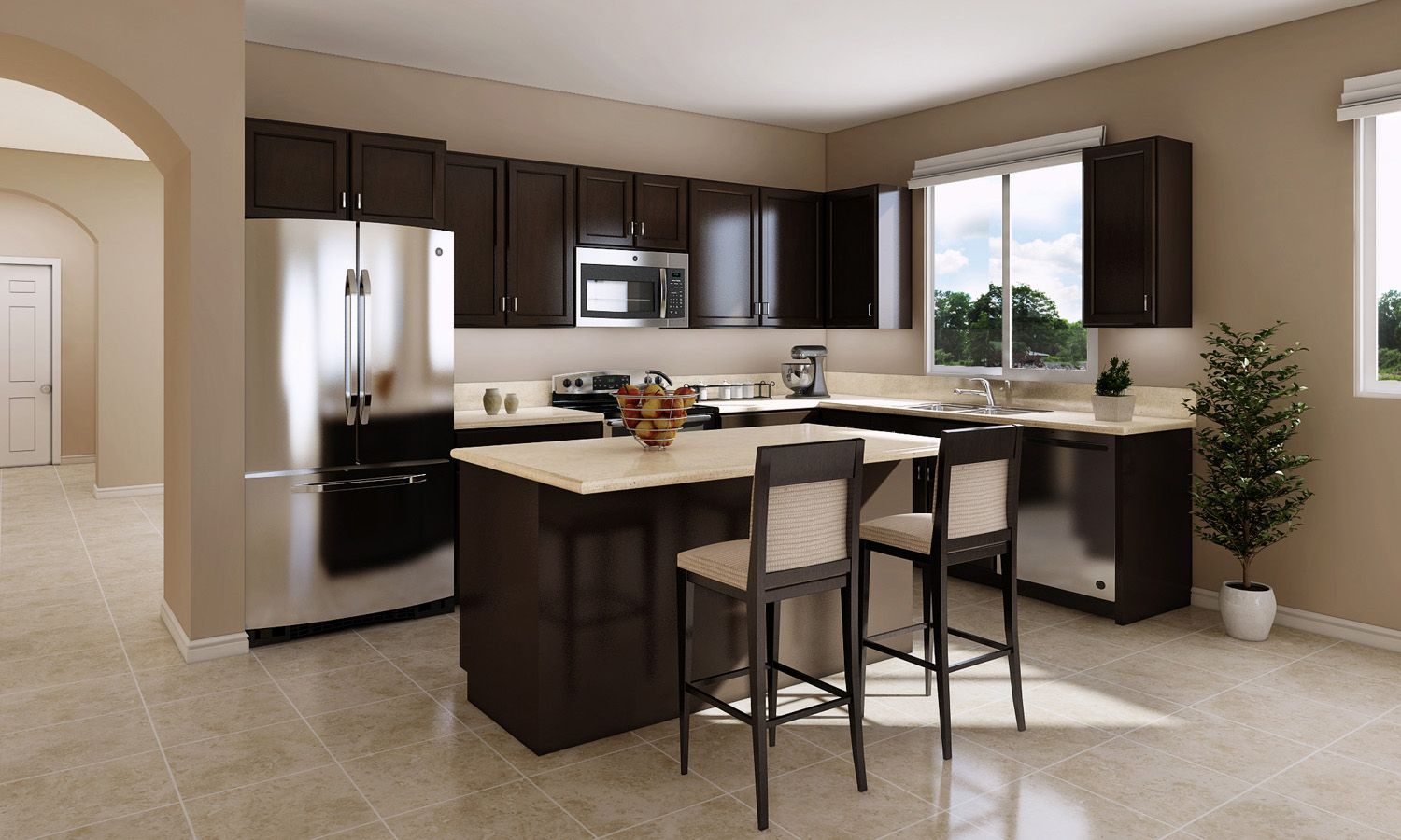 Kitchen featured in The Caledonia By Stonefield Home in Merced, CA