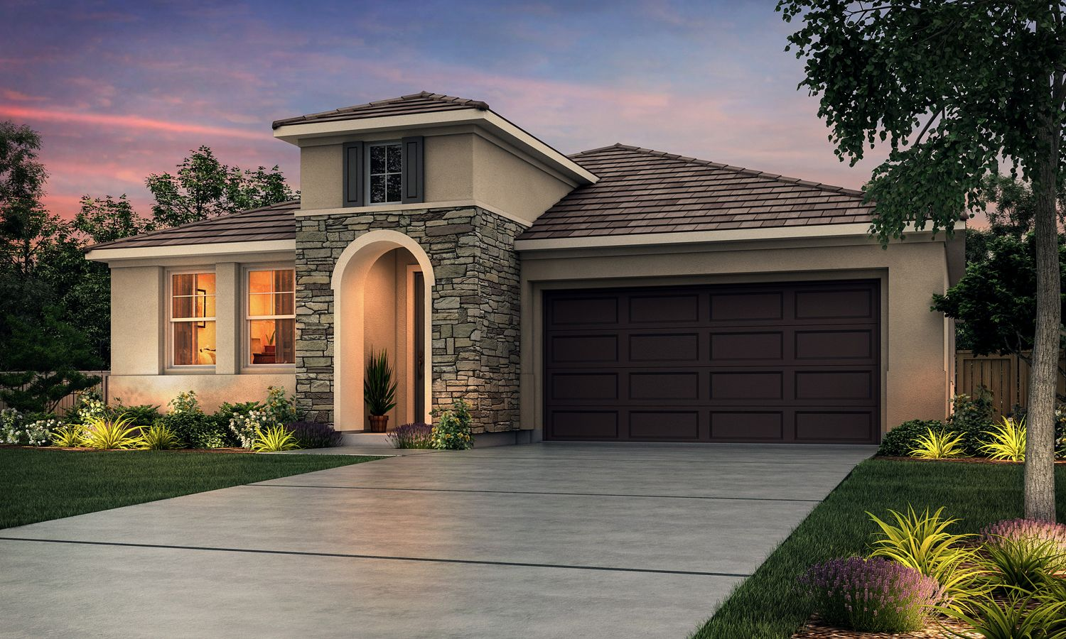 Exterior featured in The Caledonia By Stonefield Home in Merced, CA