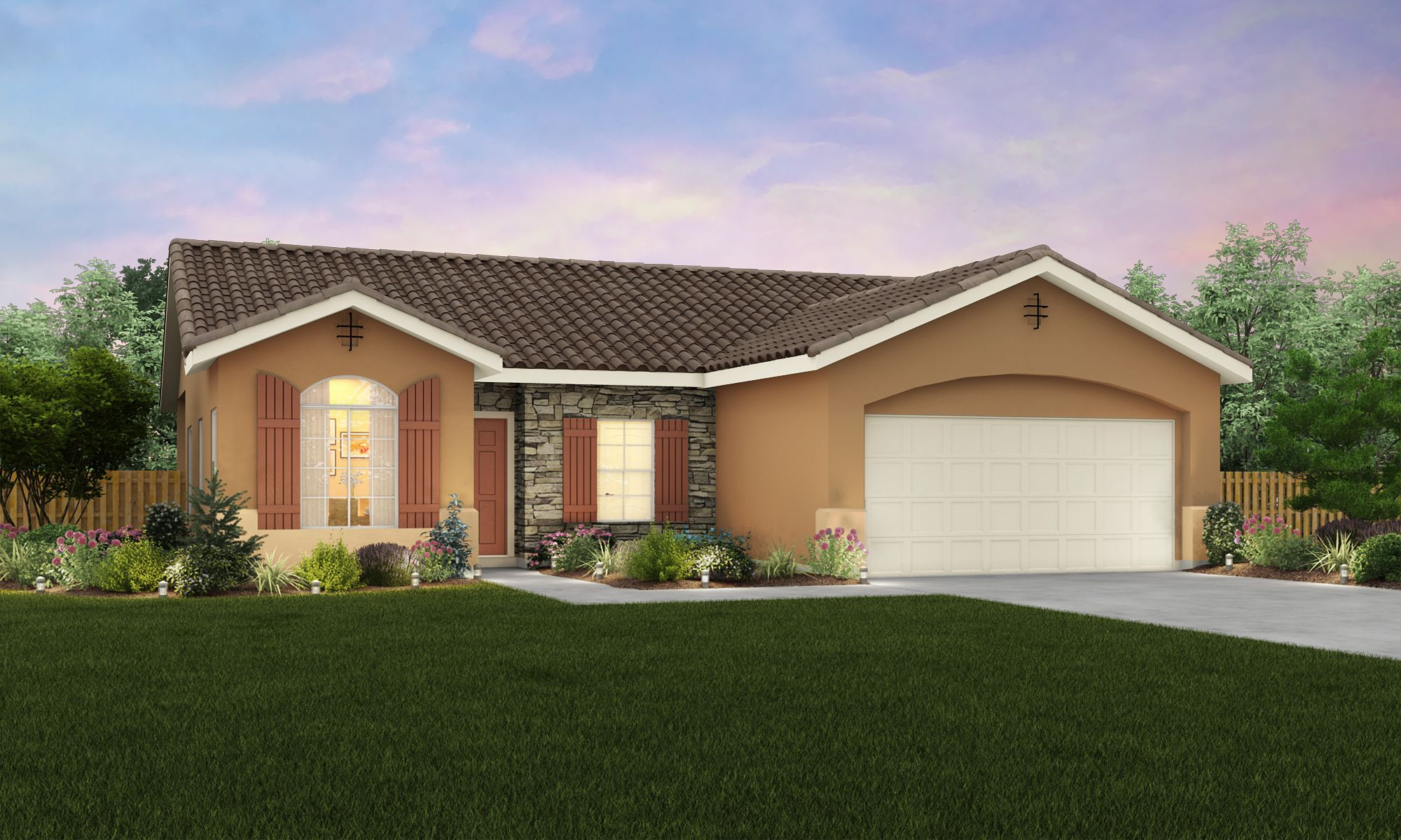 Exterior featured in The Humboldt By Stonefield Home in Merced, CA