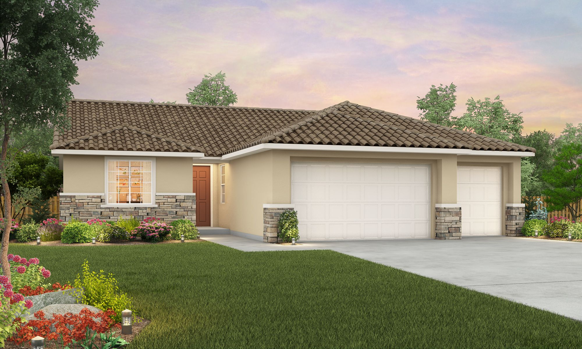 Exterior featured in The Santa Cruz By Stonefield Home in Merced, CA