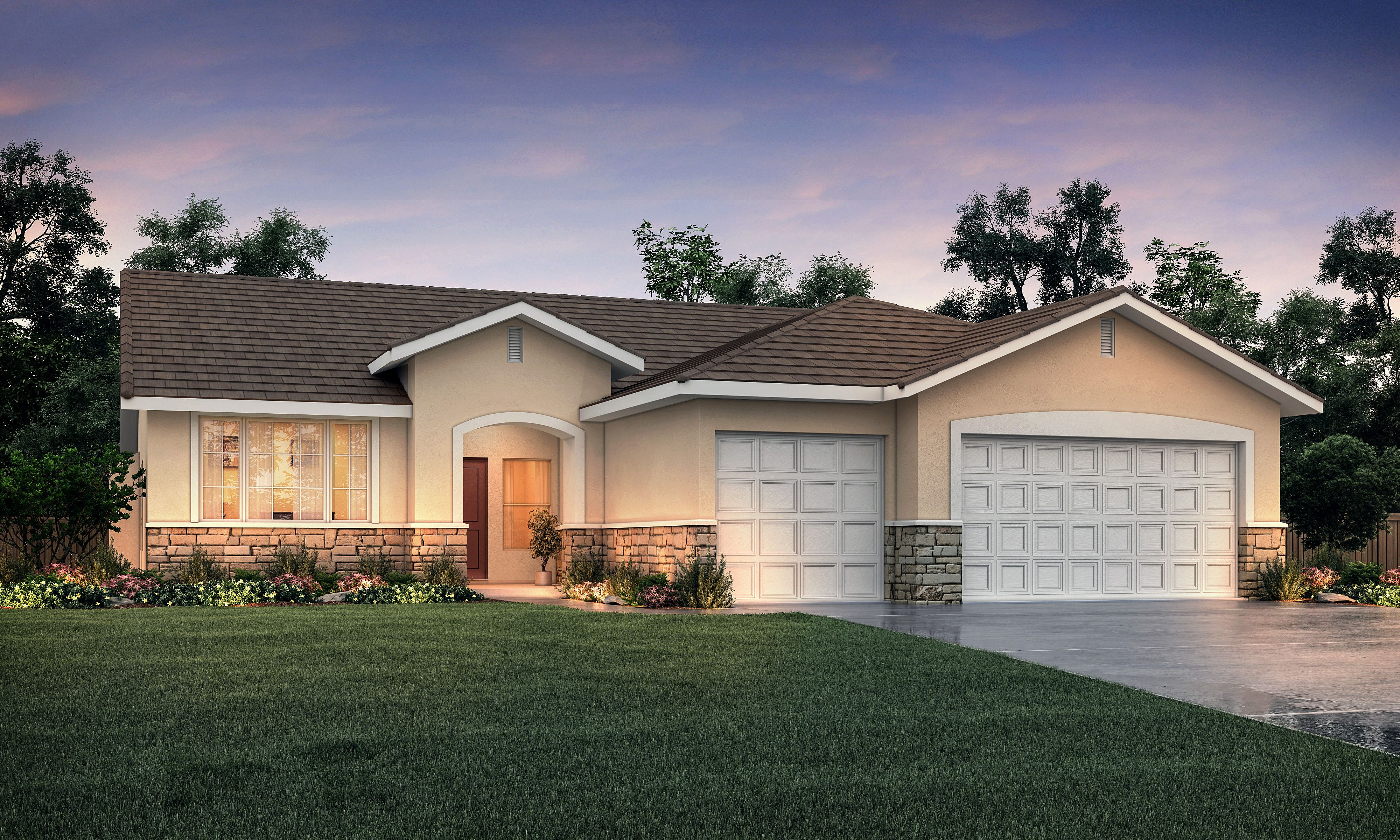 Exterior featured in The Monterey By Stonefield Home in Merced, CA