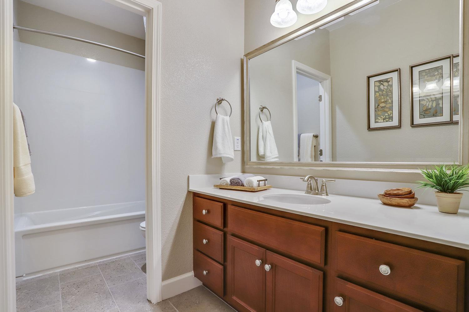 Bathroom featured in The Cambria By Stonefield Home in Merced, CA