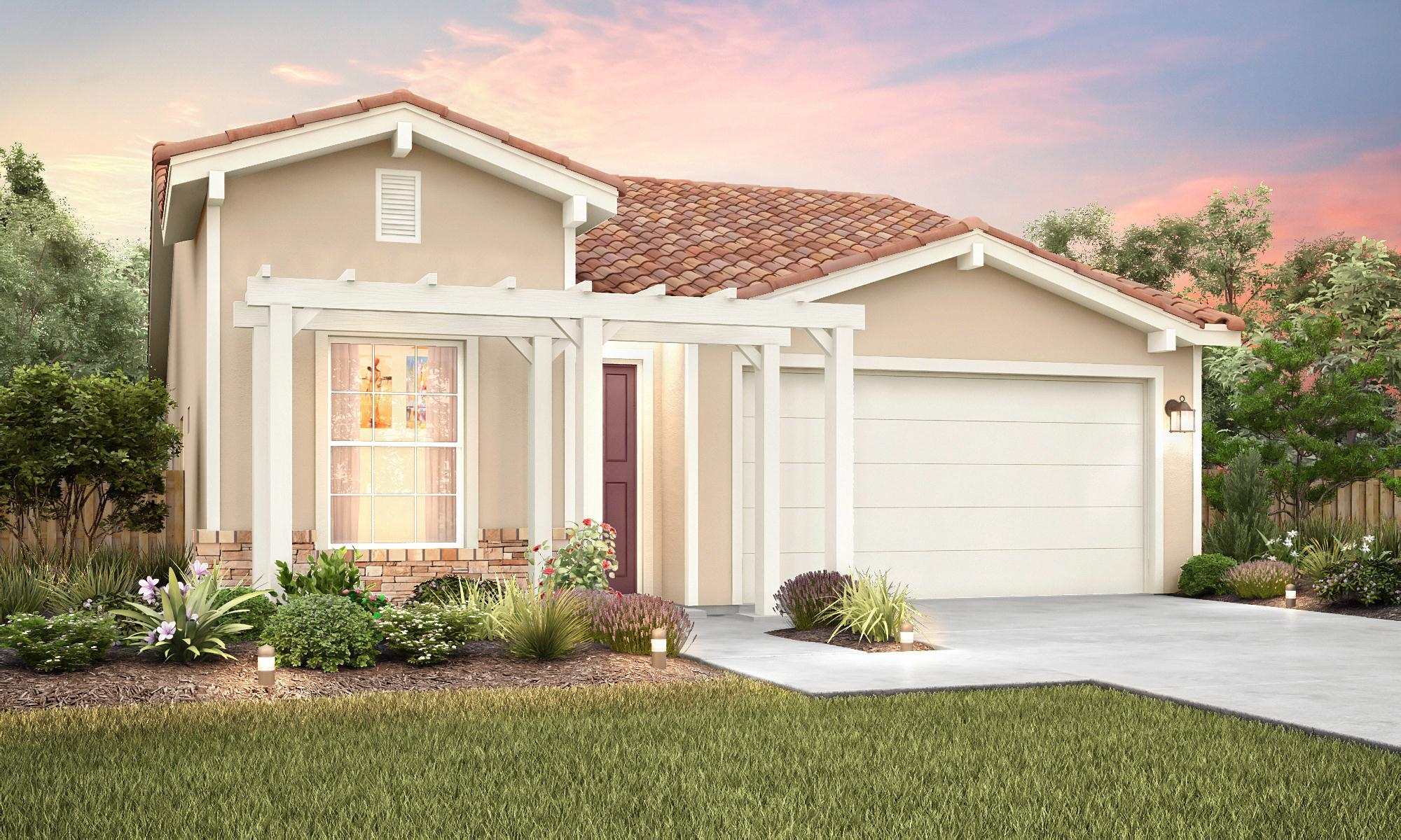 Exterior featured in The Rainier By Stonefield Home in Merced, CA