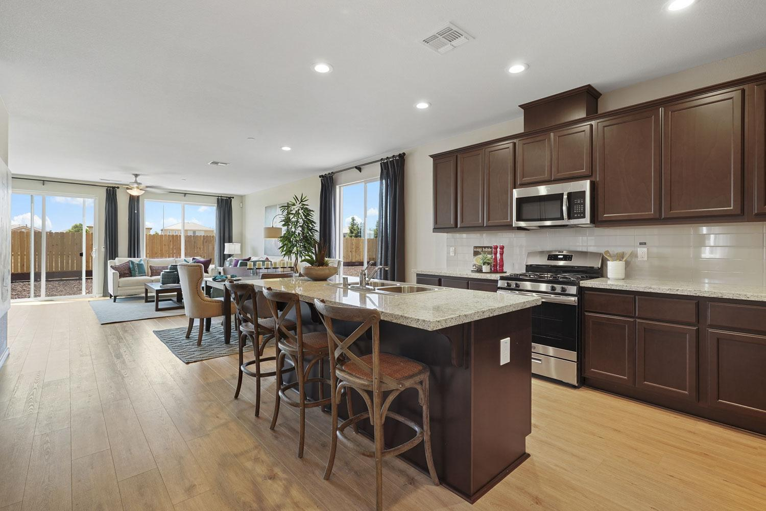 Kitchen featured in The Cascade By Stonefield Home in Merced, CA