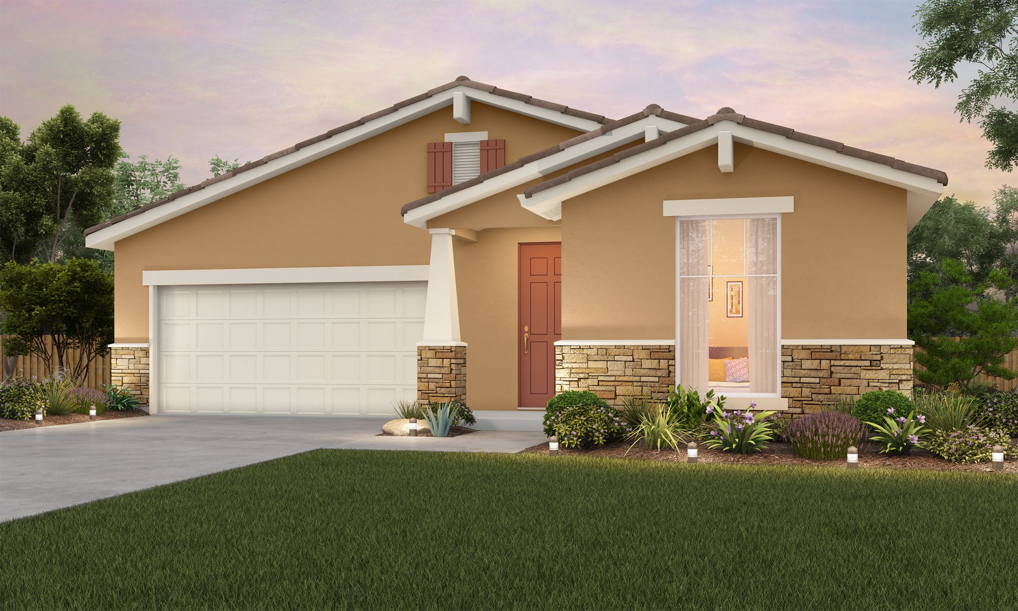 Exterior featured in The Teton By Stonefield Home in Merced, CA