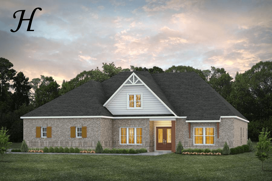 Exterior featured in the Bainbridge By Stone Martin Builders in Dothan, AL