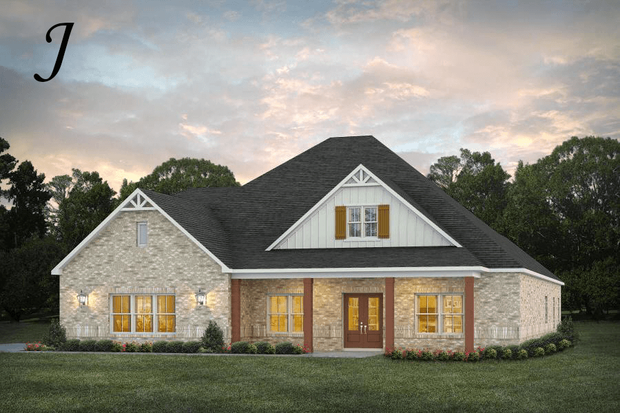 Exterior featured in the Dogwood II By Stone Martin Builders in Huntsville, AL