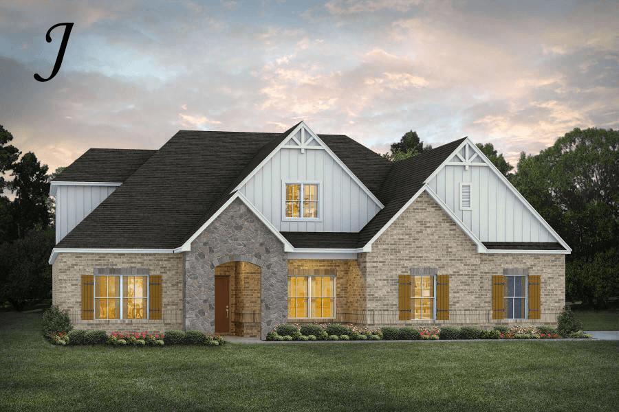 Exterior featured in the Fairhope II By Stone Martin Builders in Huntsville, AL