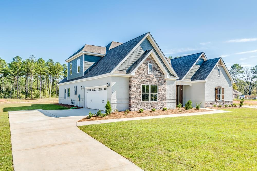 Exterior featured in the Melbourne II By Stone Martin Builders in Dothan, AL