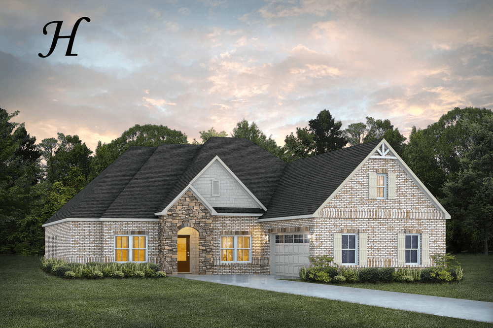Exterior featured in the Alexandria By Stone Martin Builders in Montgomery, AL