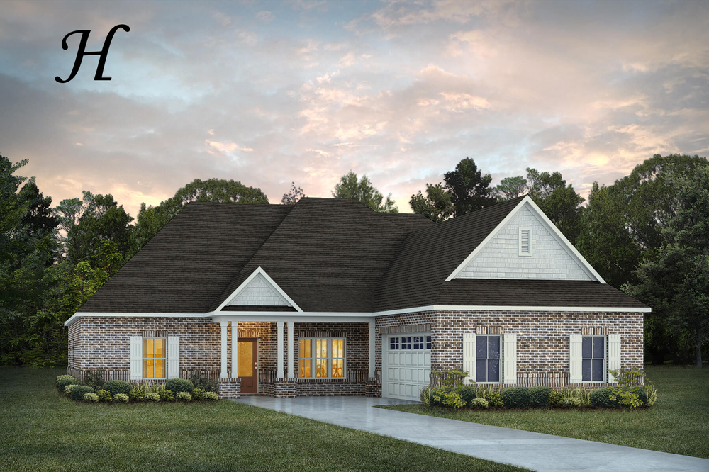 Exterior featured in the Alexandria II By Stone Martin Builders in Montgomery, AL