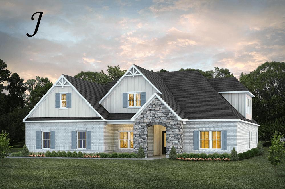 Exterior featured in the Bainbridge II By Stone Martin Builders in Montgomery, AL