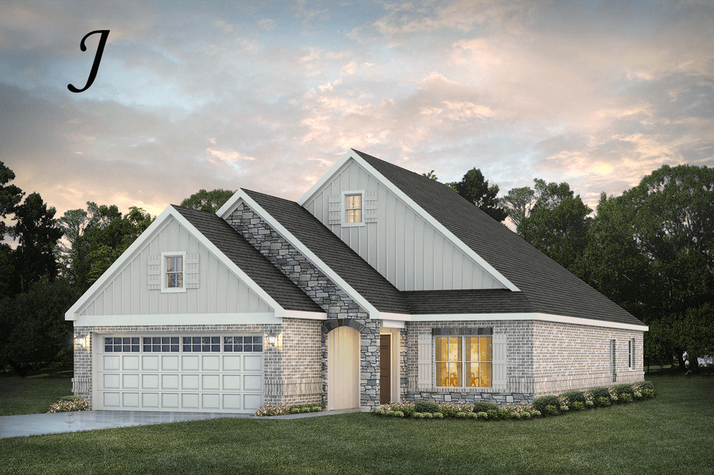 Exterior featured in the Hampton By Stone Martin Builders in Montgomery, AL
