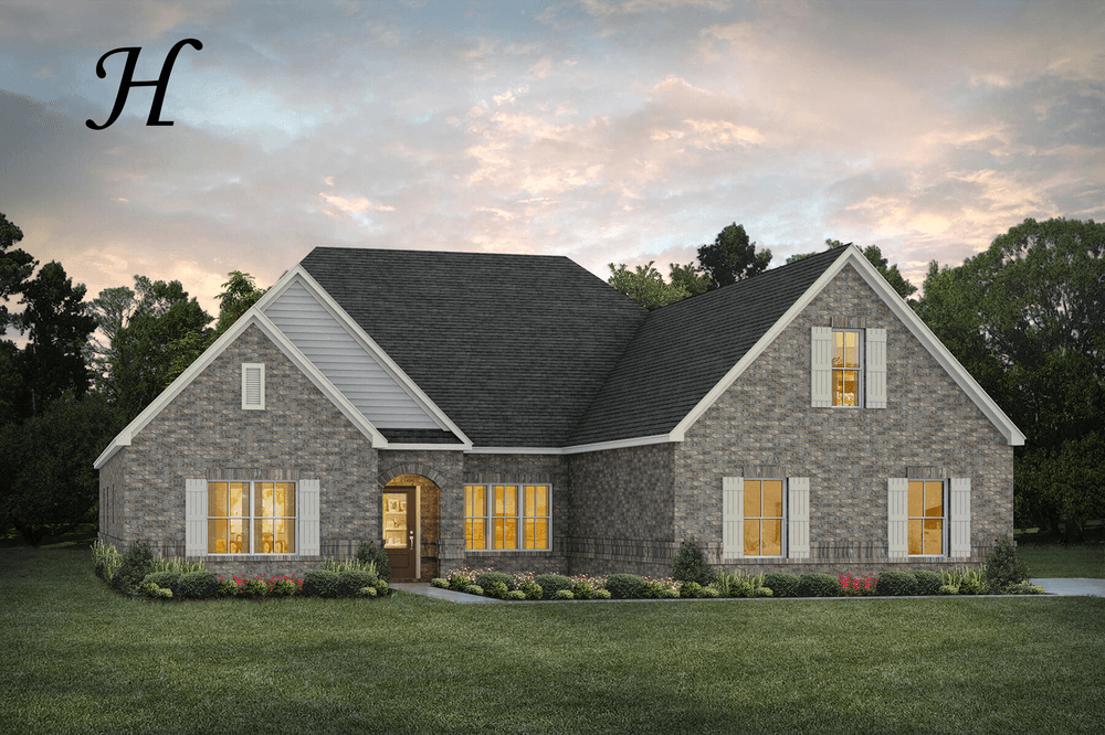 Exterior featured in the Hartwell II By Stone Martin Builders in Montgomery, AL