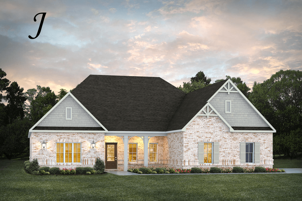 Exterior featured in the Lakewood II By Stone Martin Builders in Montgomery, AL