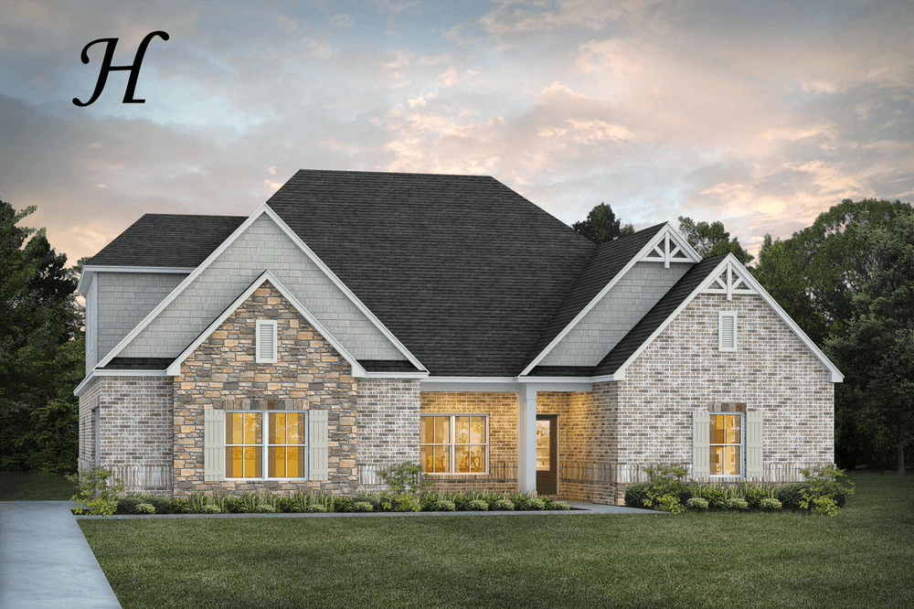 Exterior featured in the Melbourne II By Stone Martin Builders in Montgomery, AL