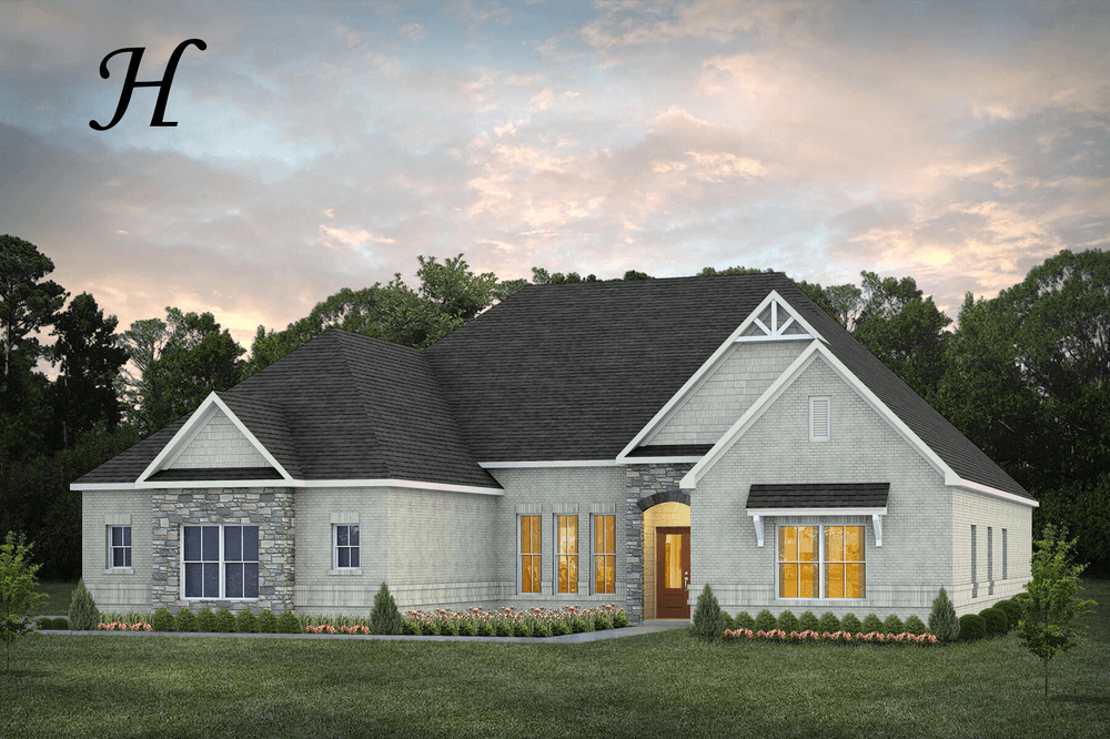 Exterior featured in the Newcastle By Stone Martin Builders in Montgomery, AL