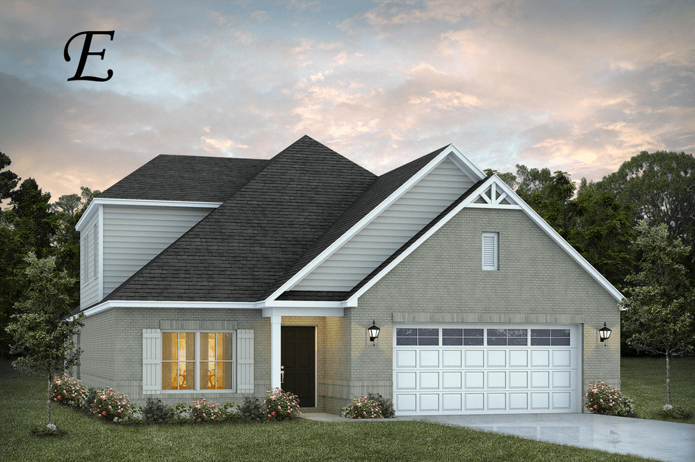 Exterior featured in the Rosewood By Stone Martin Builders in Montgomery, AL