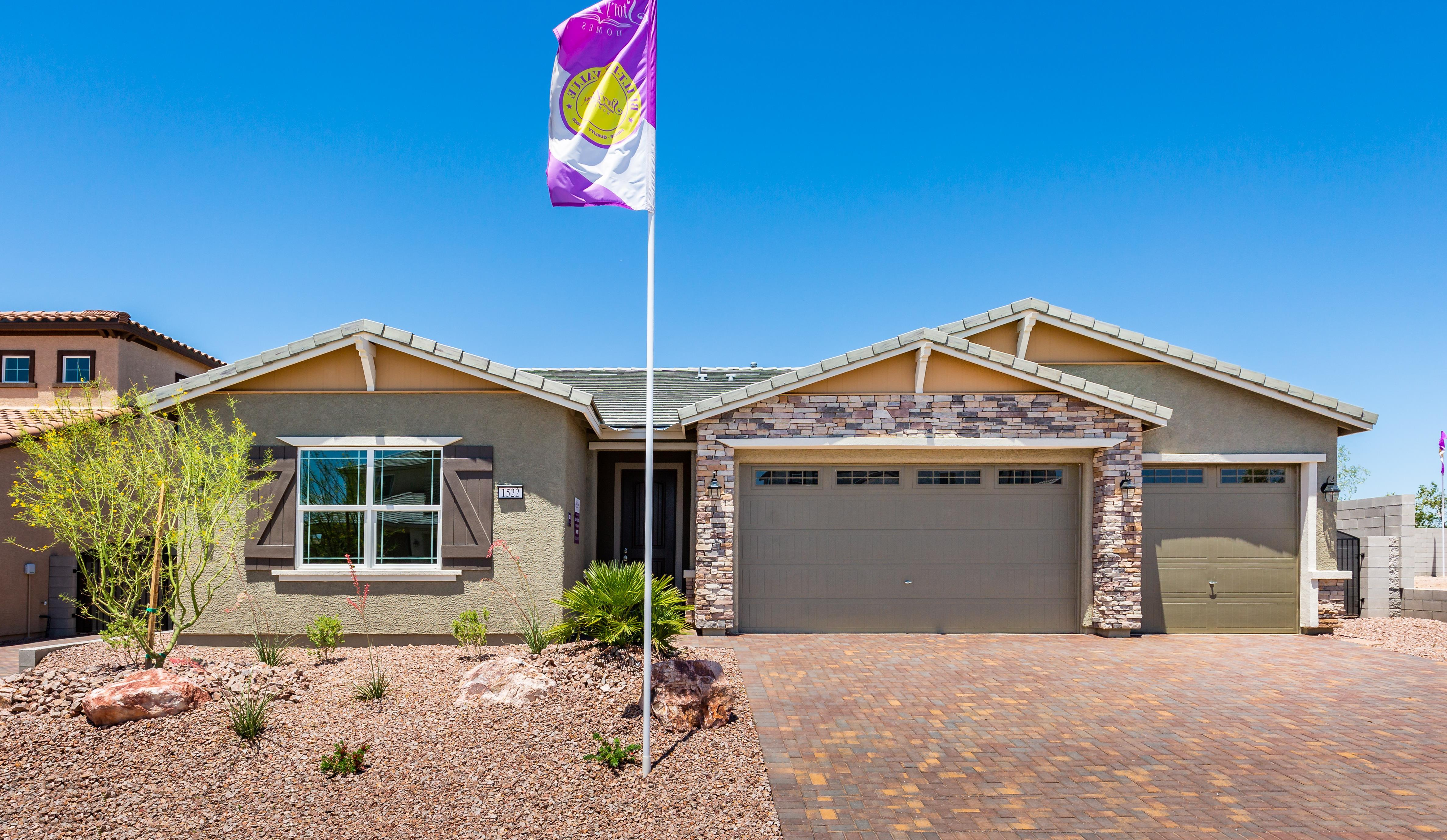Exterior featured in the Plan 2 By Storybook Homes in Las Vegas, NV