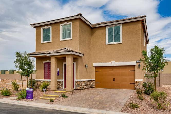 Exterior featured in The Yorkshire By Storybook Homes in Las Vegas, NV