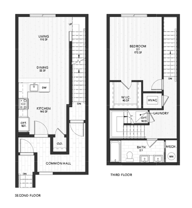 Plan 2:Second and Third Floor