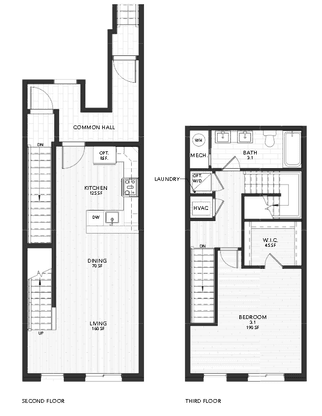 Plan 3:Second and Third Floor