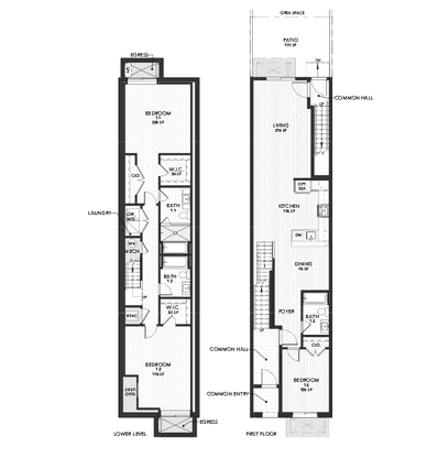 Plan 1:Lower Level and First Floor